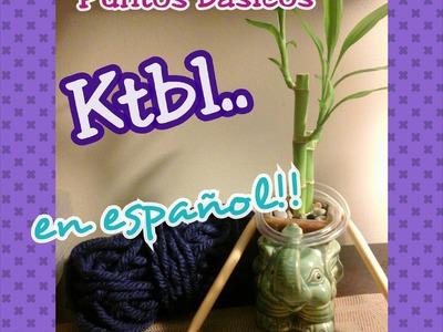 Ktbl - Derecho tomado por la hebra de atras. Puntos básico dos agujas (Español)