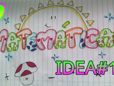 Marca tus cuadernos idea#1. Allmagicfull❤