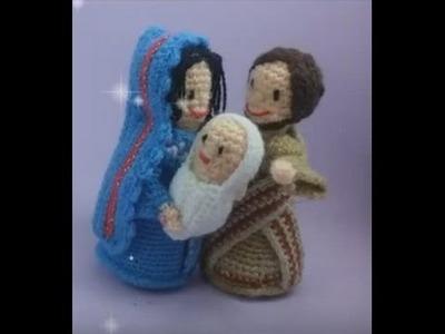 Portal de Belen amigurumi - Video 3 - Sagrada Familia - Alas de Hada y Ganchilleando Lokuras