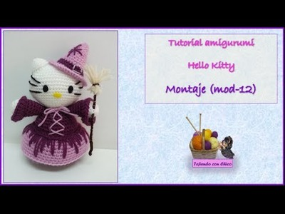 Tutorial amigurumi Hello Kitty - Montaje (mod-12)