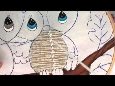 159.- Bordado fantasía cuerpo de buhos