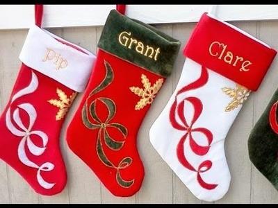 Botas de Navidad - Como hacer la bota de Navidad paso a paso