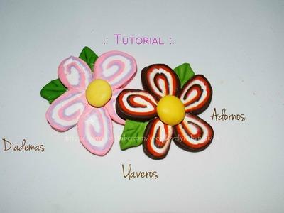 Como hacer Flores combinadas porcelana fria