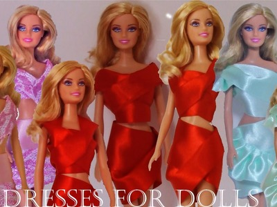 Vestidos en miniaturas para muñecas tutoriales - Making miniature party dresses for dolls