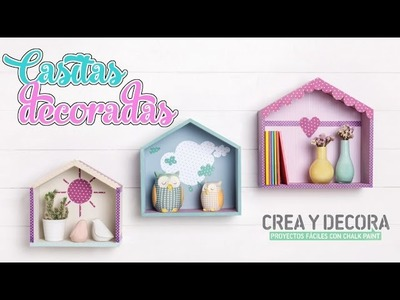 Como decorar casitas de madera con Chalk Paint y Collage - Isa ❤️