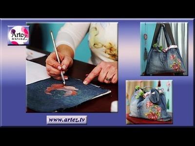 Como decorar tu bolso de tela de jean