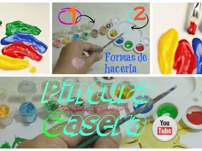 Como hacer Pintura Casera Facial 2 formas.Easy DIY Make Your Own Paint
