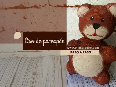 Cómo hacer un oso decorativo de porexpán o poliestireno