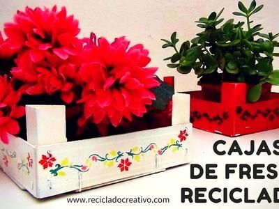Cómo reciclar cajas de fresas y convertirlas en un objeto decorativo