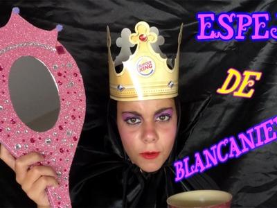 ESPEJO DE #BLANCANIEVES HECHO CON PALAS DE LA PLAYA