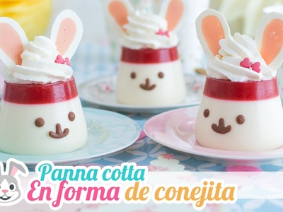 Panna cotta en forma de conejita   Postre sin horno   Quiero Cupcakes!