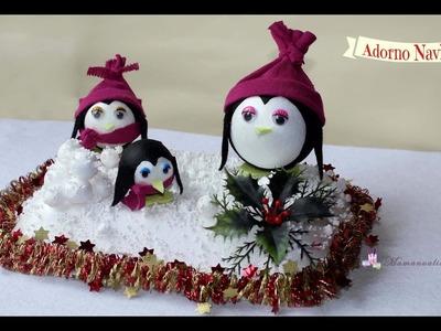 Adorno Navideño pingüinos