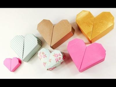 Cajita de corazon de origami - Como hacer cajita de corazon ideal para dia de enamorados