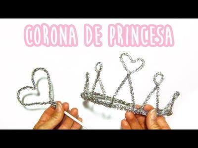 Cómo hacer una corona de princesa fácil - Limpiapipas