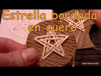 """¿Cómo bordar una estrella en cuero? """"El Rincón del Soguero"""""""