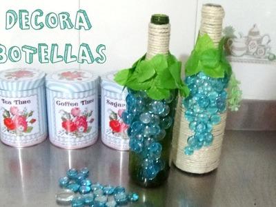 Cómo decorar botellas de vino │Candy Bu