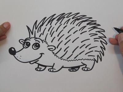 Cómo dibujar un Erizo - How to draw a hedgehog