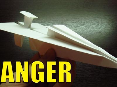 Como hacer AVIONES DE PAPEL Super Cool | MODELO RANGER paso a paso MUY FACIL!