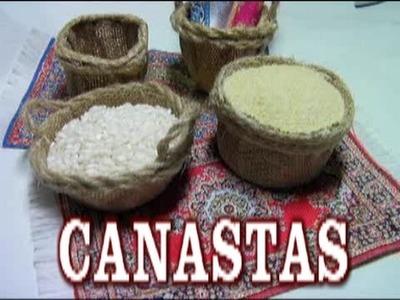 COMO HACER CANASTAS PARA EL BELÉN, red, lascosasdelalola - HOW TO MAKE BASKETS FOR BETHLEHEM