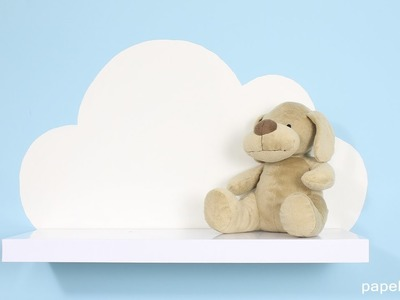 Cómo hacer estanterías con forma de nube para decorar tu habitación