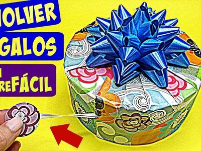 DIY Técnica con abre fácil para envolver. How to wrap gifts.