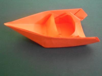 Origami-cómo hacer un Origami barco Motor barcos-ORIGAMI papel