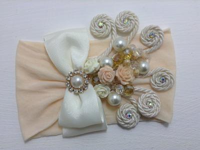 Tiara de bautizo con perlas y cristales VIDEO 359