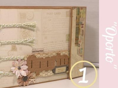 Tutorial: Álbum Oporto.PARTE 1: ESTRUCTURA. Álbum Scrapbooking con cosido fácil.