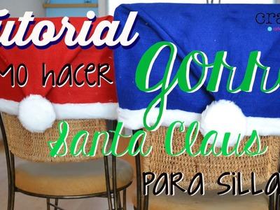 Tutorial: Cómo hacer gorro de Santa Claus para silla
