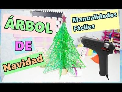 ÁRBOL DE NAVIDAD con SILICONA CALIENTE  MANUALIDADES FÁCILES  - BeagleArts ♥