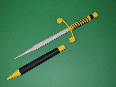 Como Hacer un Cuchillo de Papel - Estilete -  Armas Caseras