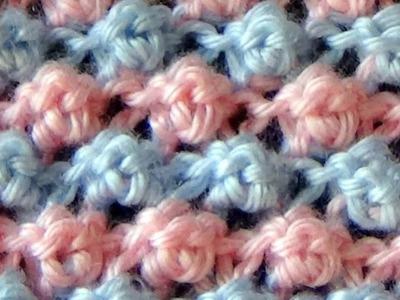 Cómo Tejer PUNTO GARBANZO en COLORES - Trinity Stitch 2 agujas (395)