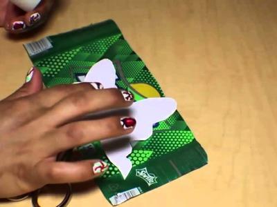 DIY como hacer mariposas con latas de aluminio.