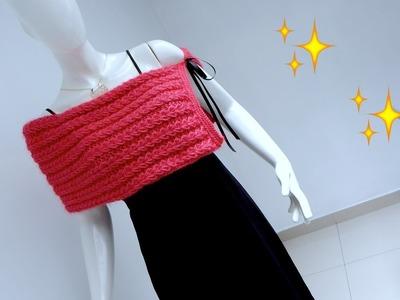 Estola, bufanda y más tejida en dos agujas, Knitting Stole DIY
