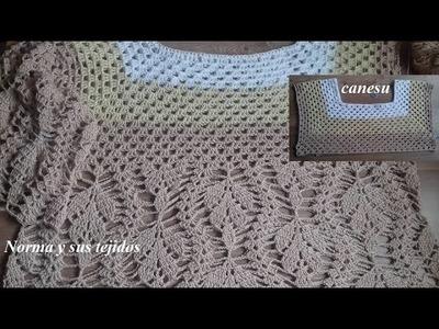 Canesu  en crochet  para blusa crema,parte 1 ( crea tu propio diseño)