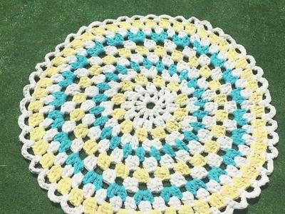 Cómo tejer una alfombra de trapillo paso a paso ♥  Laura DIY