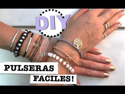 DIY | COMO HACER PULSERAS FACILES Y BONITAS | RAPIDO Y BARATO