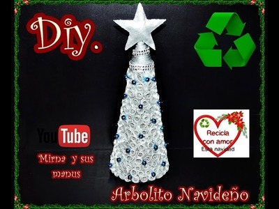 Diy.Como hacer un arbolito navideño reciclando. Diy.How to make a Christmas tree recycling.