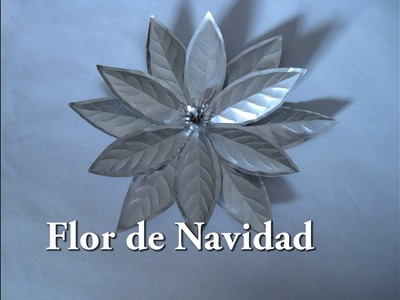 #DIY Flor de Navidad reciclada.#DIY Christmas flower recycled.