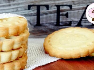 Receta de galletas de mantequilla caseras | Receta fácil | Galletas para el cafe