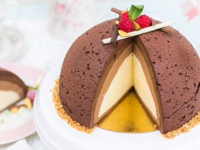 Semifrío de tres chocolate - Receta - María Lunarillos | tienda & blog