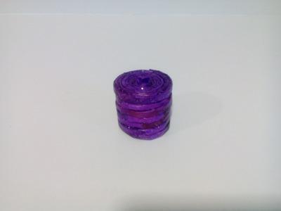 Caja miniatura con papel de periodico. Estilo 1. Newspaper mini box