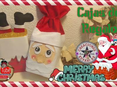 Cajas de regalo o Dulceros navideños.DIY Christmas crafts: Christmas GIFT BOX