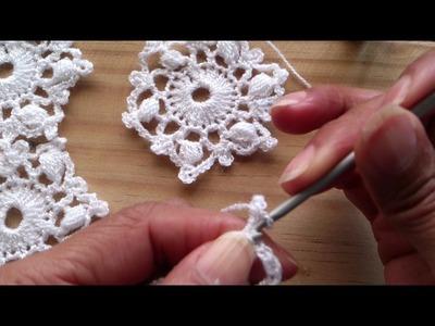 Copo de nieve tejido a crochet