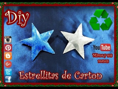 Diy Como hacer unas Estrellitas Reciclando Mirna y sus manus. Diy How to make a recycling star