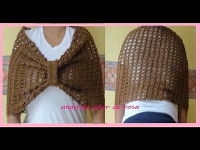ESTOLA.chal  moño  crochet fácil paso a  paso