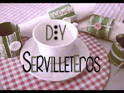 Ideas para hacer servilleteros caseros - DIY Napkin Ring