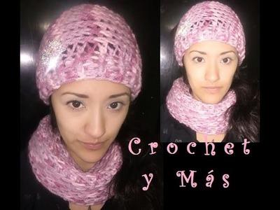 Juego de Gorro y Cuello a Crochet