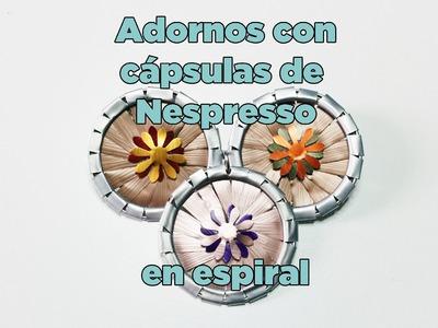 Adorno en espiral con cápsulas de Nespresso. (Eng subs)