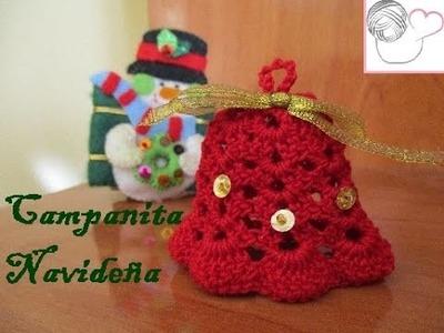 Campanitas navideñas en crochet | Danaf Crea